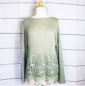 MIAMI Womens Knit Olive Green Top
